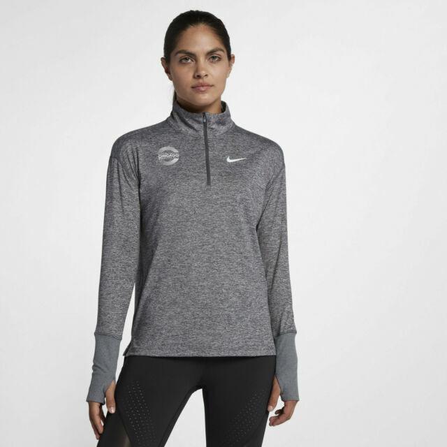 paso sal expedición  Women's Nike Chicago Marathon 2018 Half Zip Running Grey Size Large 933690  021 for sale online | eBay