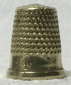 Childs Size Brass Thimble - Size 4 - Unknown Maker & Country