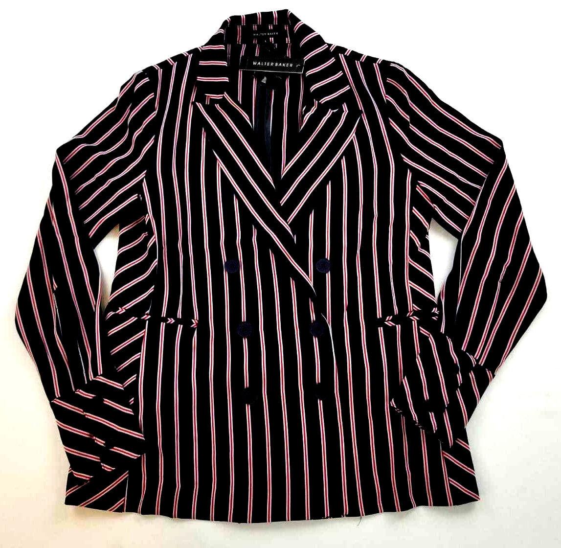 New WALTER BAKER damen Kitty Jacket W30173 navy rot stripe L MSRP