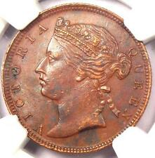 1889 Straits Settlements Victoria Half Cent 1/2C - NGC XF - $350 Value in XF