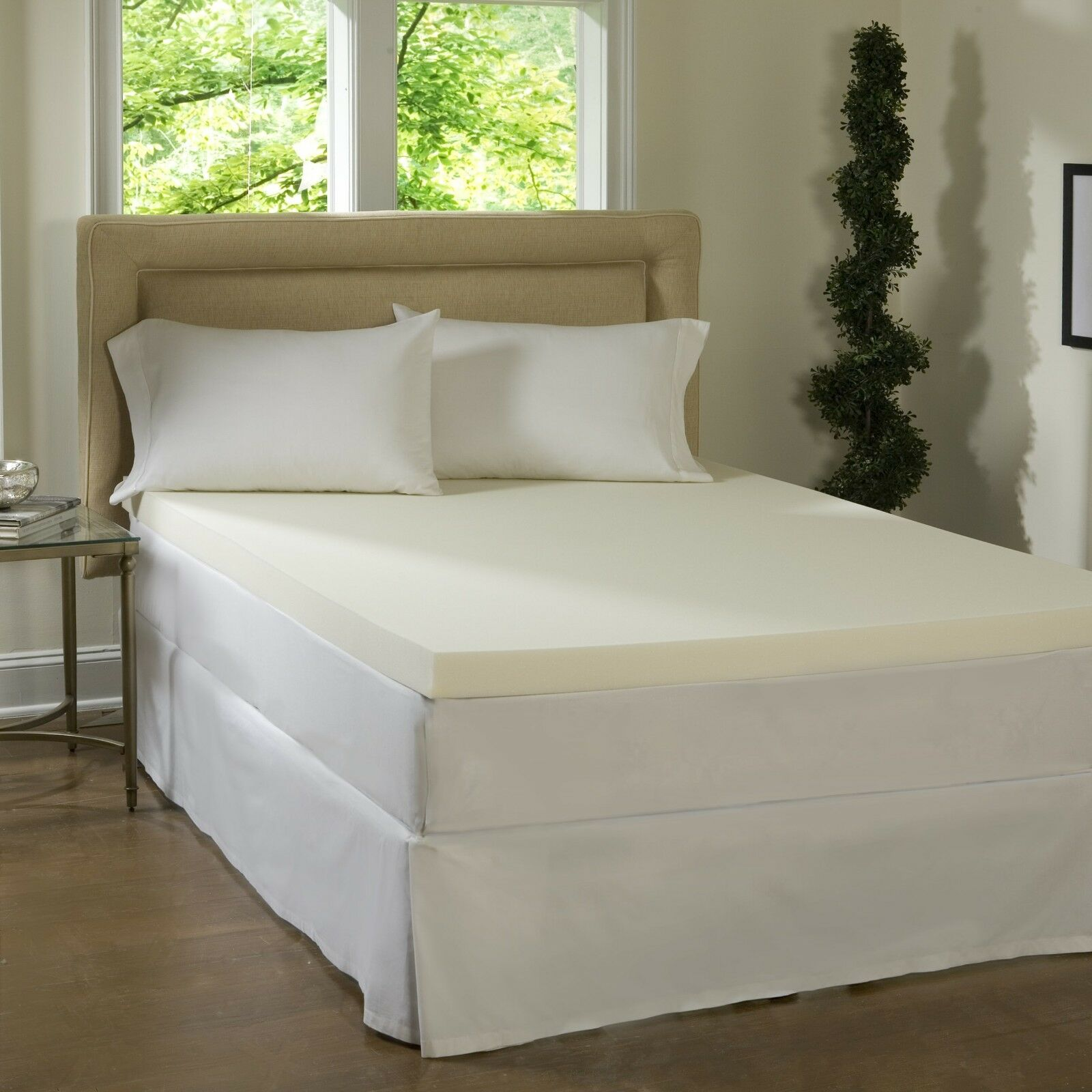 NEW  2  ULTIMATE COMFORT LUXURY MEMORY FOAM BED MATTRESS PAD TOPPER MADE IN USA