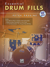"""""""ESSENTIAL DRUM FILLS"""" EXAMPLES/CHARTS/TRANSCRIPTIONS MUSIC BOOK/CD-NEW ON SALE!"""