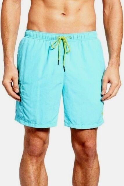 f1012a1183 Tommy Bahama Men's XL Aqua Blue The Naples Happy Go Cargo Swim Trunks Shorts