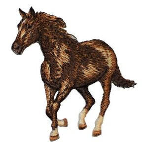 Horse-Applique-Patch-Galloping-Running-Equestrian-Iron-on