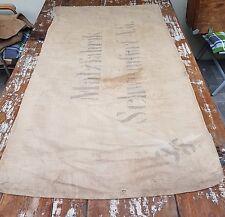 Alter Leinensack Getreide Mehlsack 130x69 cm Shabby Vintage Möbelbau bedruckt