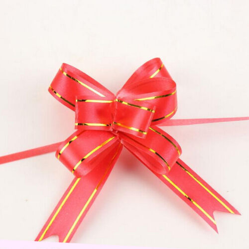 10Pcs Decoration Party Wedding Birthday Gift Flower Bow Wrap Pull Ribbon  HICA