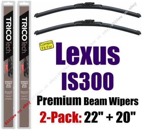fit 2001-2005 Lexus IS300-19220//200 Wiper Blades 2-Pack Premium