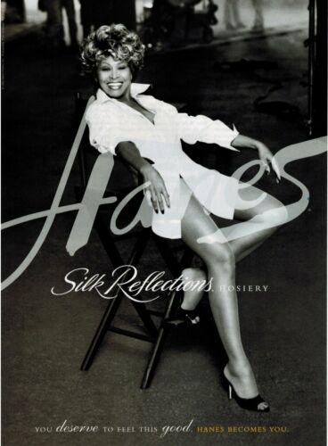 1996 Tina Turner for HANES   HOSIERY Sheer  Magazine  Print AD