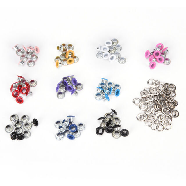 "100pcs  4.5mm Scrapbook Eyelet Random Mixed Color Metal eyelets For DIY clothes"""