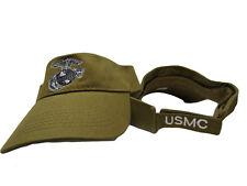 USMC Marine Marines Coyote Brown EGA Visor Cap Hat