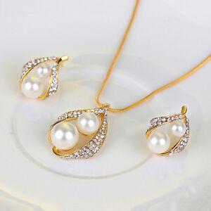 Conjunto-de-joyeria-nupcial-Fiesta-Boda-Collar-Perlas-Cristal-Pendientes-AnilQA
