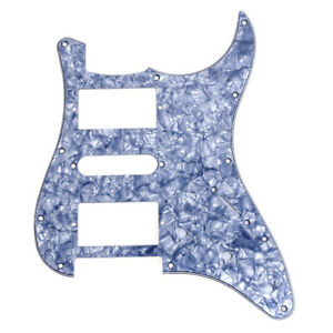 Electric-Guitar-Pickguard-Scratch-Plate-for-Fender-Stratocaster-HSH-Gray-Pearl