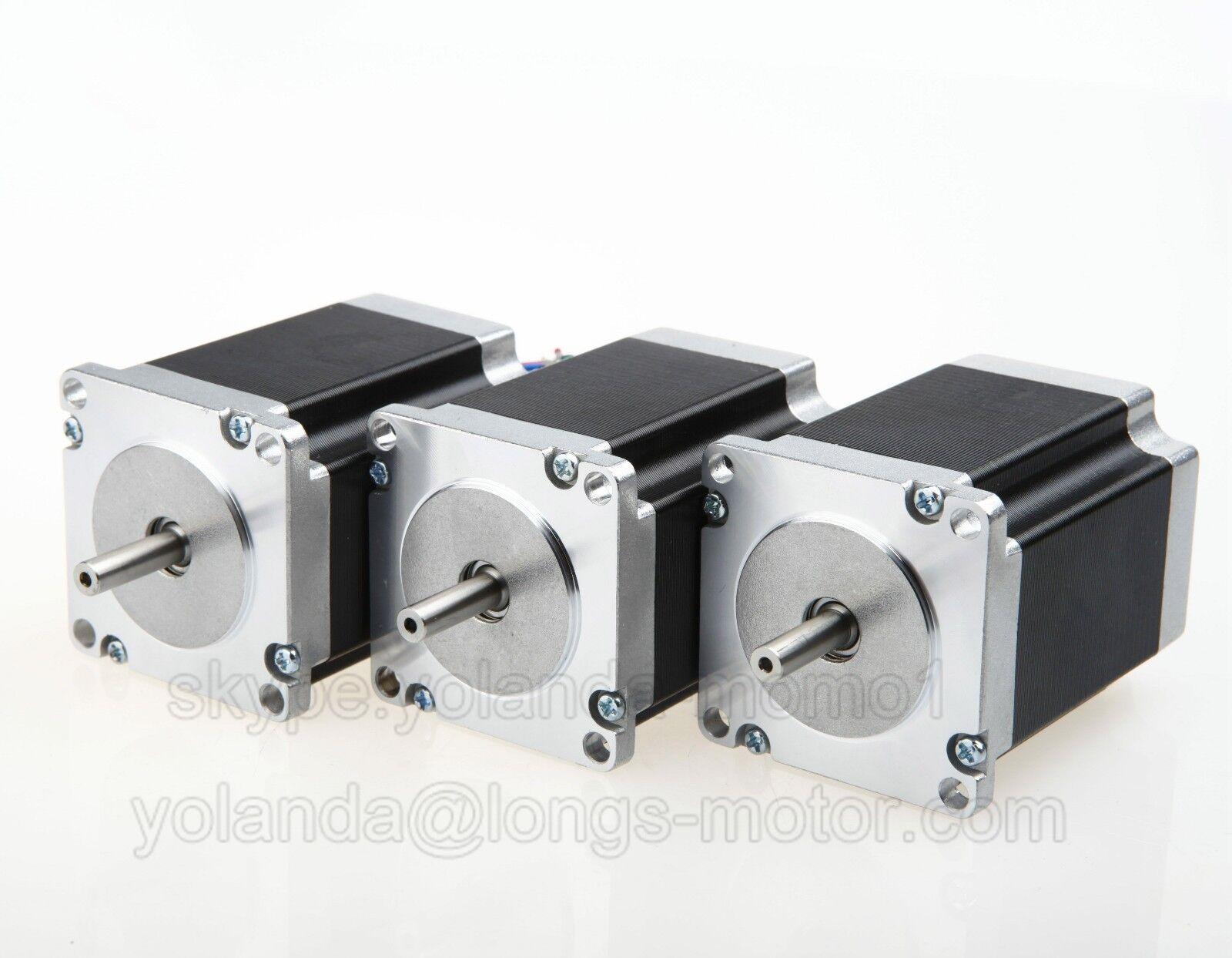 【EU SHIP】NEMA23 Stepper Motor 3A 100 oz-in 41mm 4-leadsFlat Shaft CNC machine