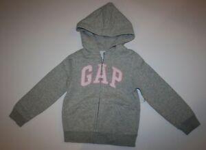 Détails sur Neuf Gap Enfants Sortie Gris Imprimé Paillette Arquée Logo Sweat à Capuche 8 9