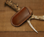 jackknife-folding-knife-blade-sheath-cover-scabbard-bag-cow-leather-brown-Z984 thumbnail 1