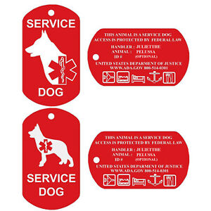 Service-Dog-Tags-Personalized-Engraved-Dog-Id-Tag-Set-of-2-USA-PetProTags