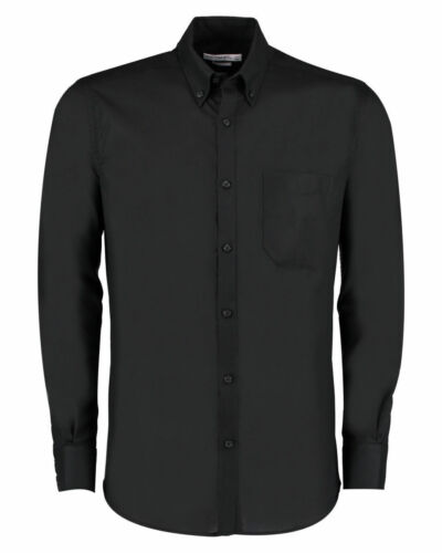 Kustom Kit Slim Fit Workwear Long Sleeved Oxford Shirt
