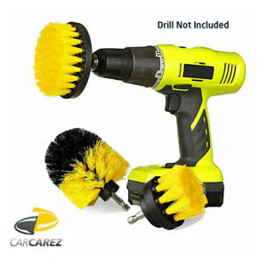Power-Scrubber-Drill-Brush-Set-Cleaner-Spin-Tub-Shower-Tile-Grout-Wall-3-Brushes