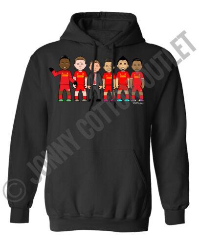 VIPwees Hoodie Mens /& Womens Football Club Legends Inspired Caricatures Hoody