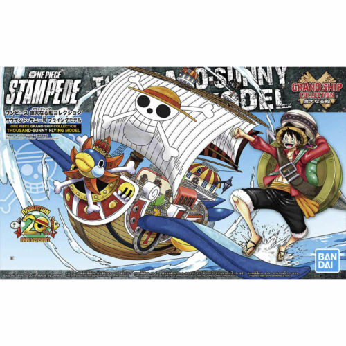 Japan Bandai ONE PIECE STAMPEDE Grand Ship Thousand-Sunny Flying Model W// TRACK