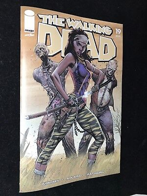 Walking Dead 15th Anniversary Issue #19 Michonne Color Trade Dress CAMPBELL
