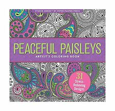 Peaceful Paisleys Artists Coloring Book 31 Stress Relieving Designs 2015 Paperback