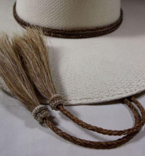 Chapeau de cow-boy cannelle Bonnet String crin de cheval Stampede string Full-Boucle Chaîne