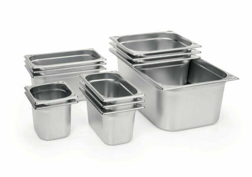 Gastronormbehälter GN Behälter 1//1 CNS 18//8 Stapelrand U-Ecken 20-200 mm