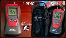 2 Pin Digital Moisture Meter Detector Damp Tester Plaster Wood Timber 4 pins US