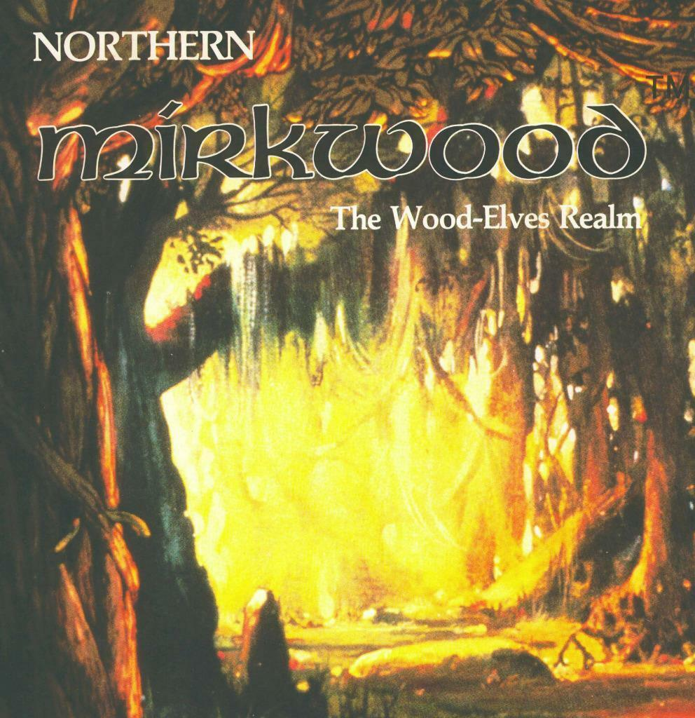 Northern Mirkwood w\Map, Middle Earth MERP  2600, Awesome MegaExtras