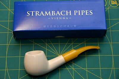bent APPLE Handmade Premium MEERSCHAUM pipe by STRAMBACH of Austria bauer NEW☦