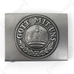 """Repro Very Well Made Repro /""""GOTT MIT UNS/"""" Prussian Army Belt Buckle"""