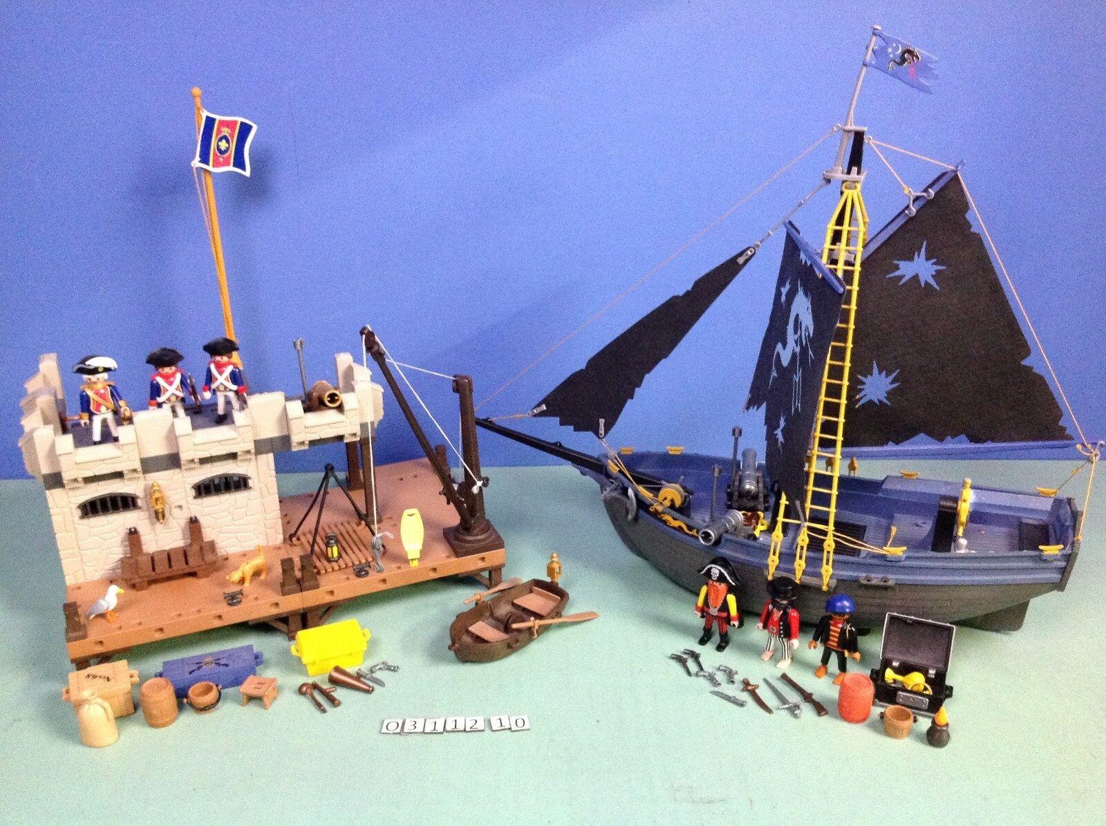 (O3112.10) playmobil lot pirates île + bâteau ref 3112  3860  Ultimo 2018
