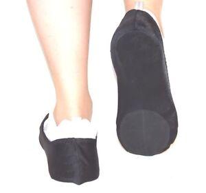 Size Large Dance Sliders Covered Heel  Black Unisex