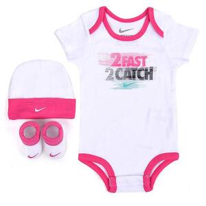 bd6b12ac6 Nike Bebé Niña Niñas set Body gorra calcetines zapatos 0-6 meses ...