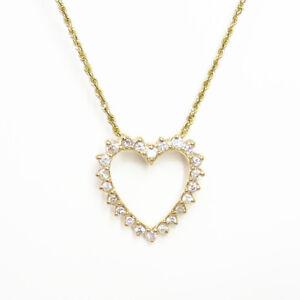 NYJEWEL-Brand-New-14k-Yellow-Gold-1-35ct-Diamond-Heart-Pendant-Necklace