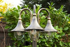 Lampione da giardino alluminio marron dorato ip illuminazione