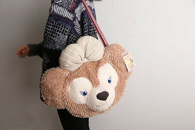 New Disney Duffy Bear Face Plush Toy Tote Bag Handbag Shoulder Bag Large Gift