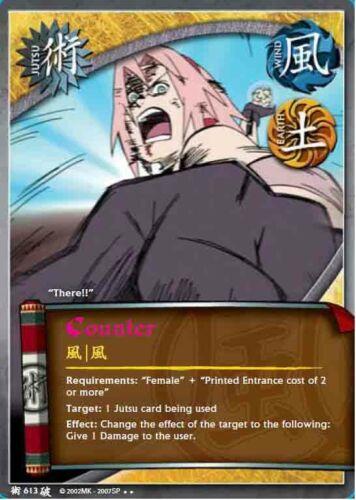 1x Counter 613 Rare Naruto CCG TCG NM//M