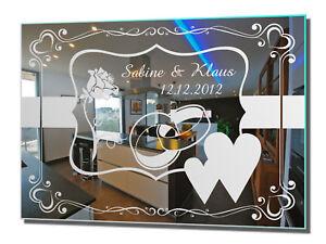Motivspiegel Hochzeit 10 Hochzeitsgeschenk Geschenk Spiegel Gravur ...