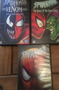 SPIDER-MAN-VHS-VIDEOS-Bundle-THE-VENOM-SAGA-RETURN-OF-THE-GREEN-GOBLIN-VILLAIN