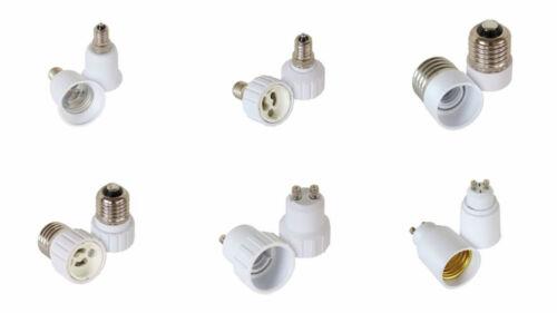 2er Set Leuchtmitteladapter Lampensockel Auswahl E14//E27//GU10 auf E14//E27//GU10