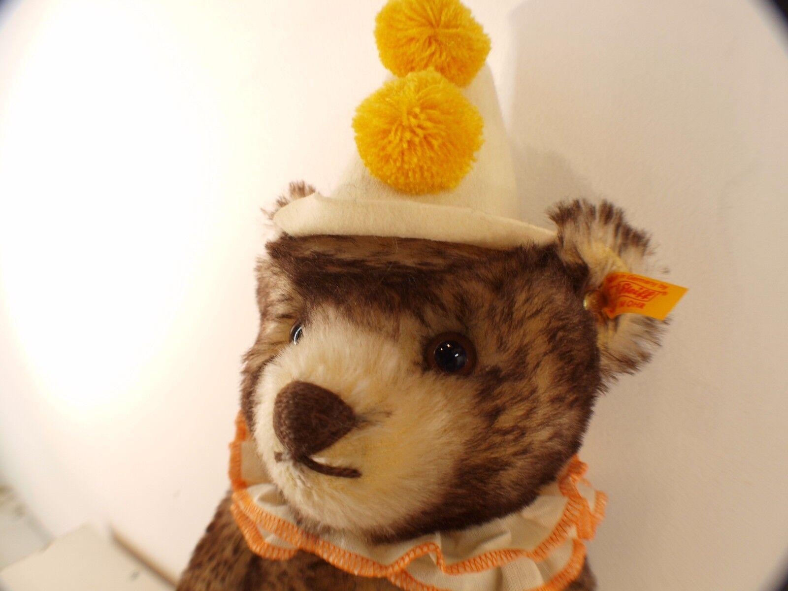 Steiff 003424 Teddy Clown Clown Clown Bear nounours ours peluche 38 cm neuf 1aa12d