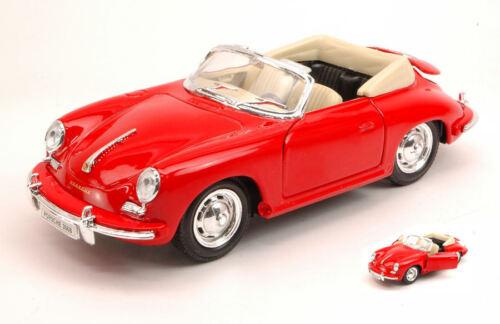 Porsche 356B 1958 Red 1:24 Model 29390R WELLY