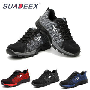 b31516a76dc Details about Mens Safety Mesh Shoes Toe Steel Lightweight Work Cap Boots  Hiking Trainers