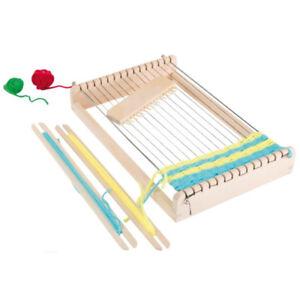 Webrahmen-Kinder-Holz-Kinderwebrahmen-mit-Kamm-Schiffchen-Wolle