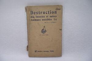 DéVoué Destruction Des Insectes Et Autres Animaux Nuisibles 400 Gravures A.l ClÉment L2 CaractéRistiques Exceptionnelles