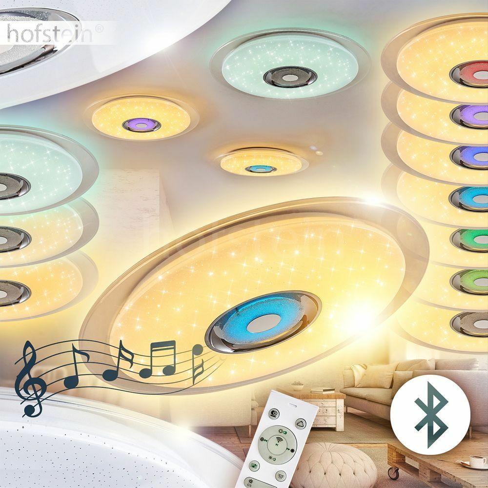 Fernbedienung LED Decken Lampen Farbwechsler Lautsprecher Wohn Zimmer Leuchten