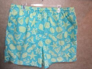 f1e1b46501 Lilly Pulitzer Mens XXL Swim Trunks Aqua w/ Lime Green Sailboats ...
