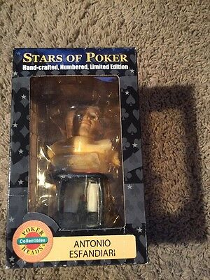 Antonio Esfandiari Mizrachi Bobbleheads 3 Stars of Poker Series Phil Gordon